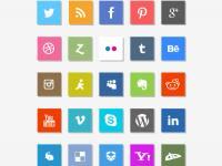 Sosyal Medya İkonları Vol 3