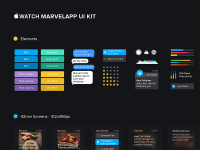 Free Apple Watch Marvelapp UI kit
