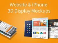 Web Sitesi ve iPhone 5 3D Ekran Mockups