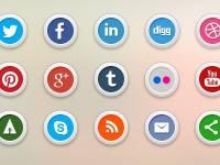 15 adet sosyal medya iKonları