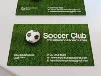futbol temalı kartvizit şablonu