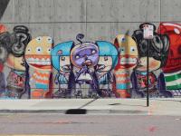 Sevimli Karakterlerden Yaratıcı Sokak Sanatı