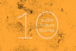 10 Subtle Texture Brushes