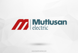 Mutlusan Elektrik Vektörel Logosu