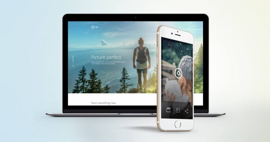 Take Mobile App Landing Page PSD