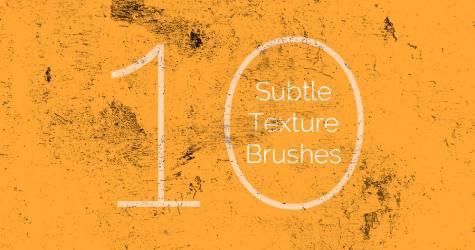 10 Subtle Texture Brushes