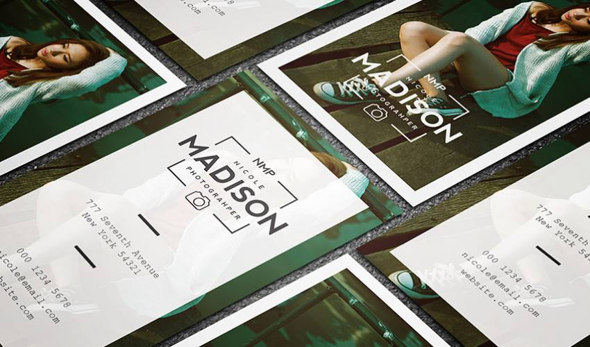 Clean & Stylish Photographer Business Card Template