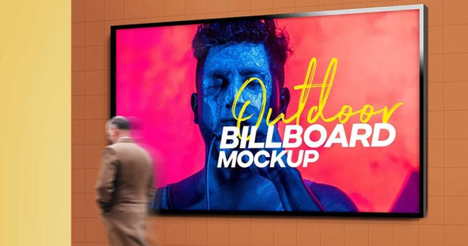 Açık Hava Billboard Mockup