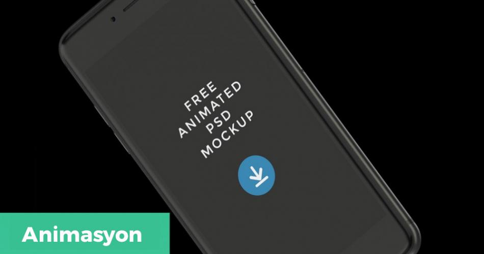 Animasyonlu İphone Mockup