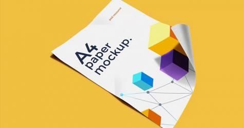 A4 Kağıt Mockup