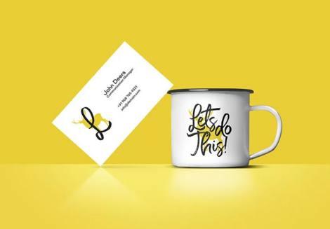 Kartvizit ve Kahve Kupa Mockup