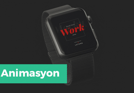 Apple Watch Animasyonlu Mockup
